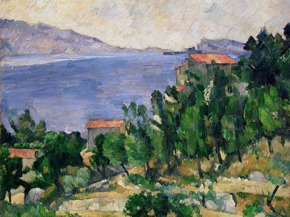 View Of Mount Marseilleveyre And The Isle Of Maire 1 By Paul Cezanne