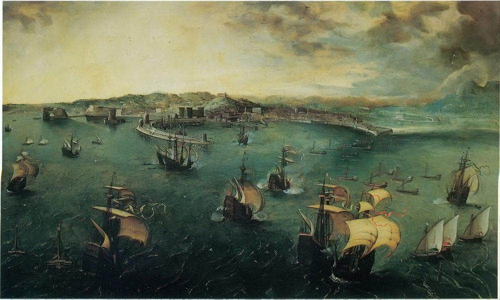 View Of Naples By Pieter Bruegel