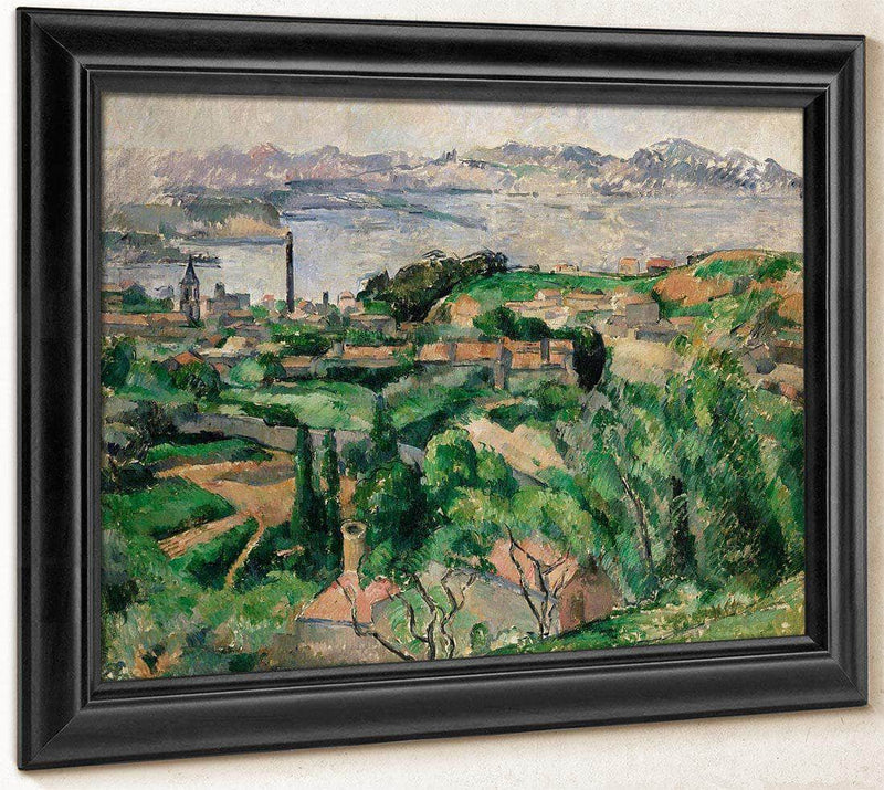 View Of The Gulf Of Marseilles And The Village Of Saint Henri By Cezanne Paul