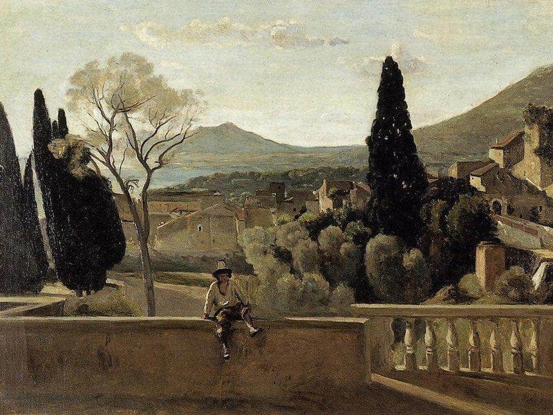 View Of Tivoli After Corot 1863 By Berthe Morisot