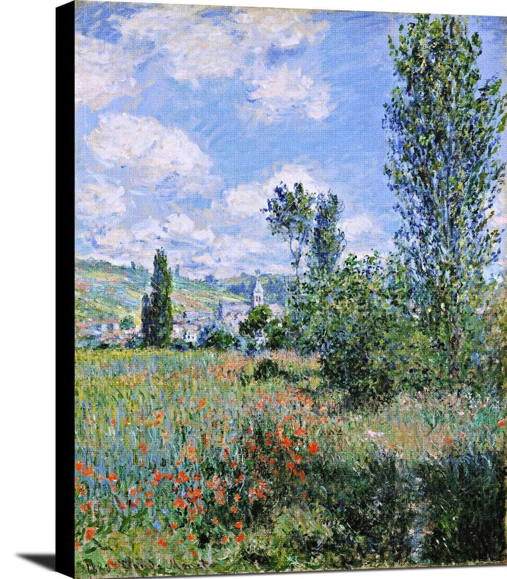 View Of Vetheuil Painting Claude Monet Canvas Art