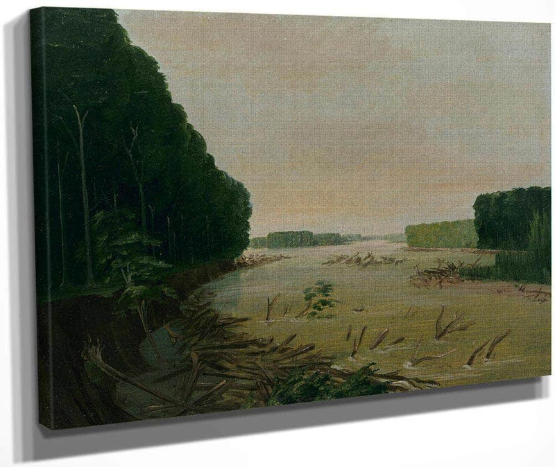 View On The Missouri, Alluvial Banks Falling In, 600 Miles Above St. Louis By George Catlin