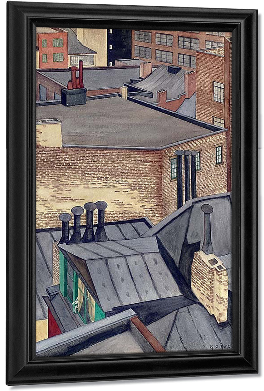 Village Roofs By George Ault