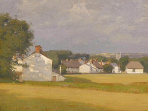 Village With A Church Spire In The Distance 1902 By William Wendt