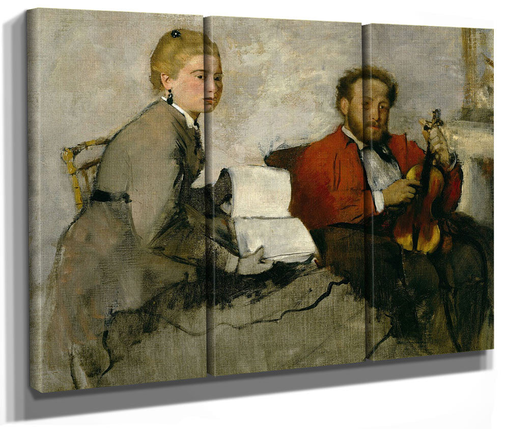 Violinist And Young Woman By Edgar Degas