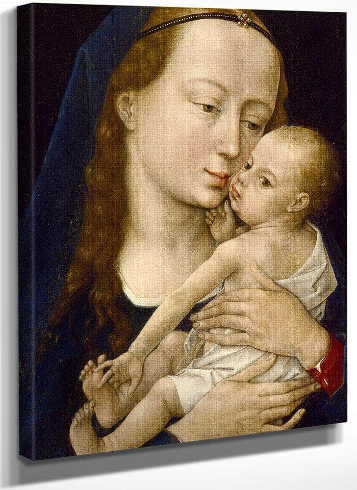 Virgin And Child 1454 By Rogier Van Der Weyden