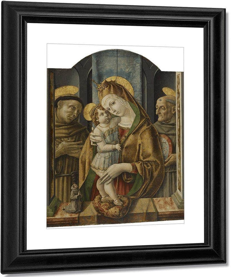 Virgin And Child With Saints And Donor 1490 By Carlo Crivelli