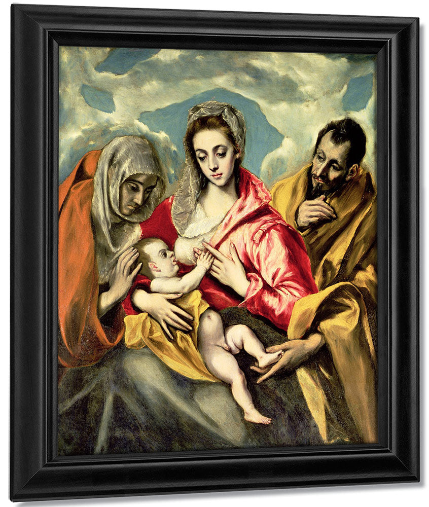 Virgin And Child With Ss. Anne And Joseph 1587 96 By El Greco