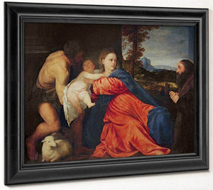 Virgin And Infant With Saint John The Baptist And Donor By Titian