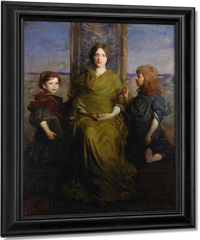 Virgin Enthroned By Abbott Handerson Thayer