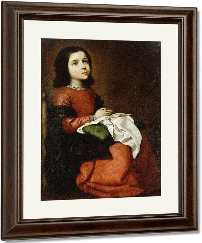Virgin Mary As A Child By Francisco De Zurbaran