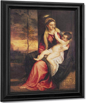 Virgin With Child At Sunset By Titian
