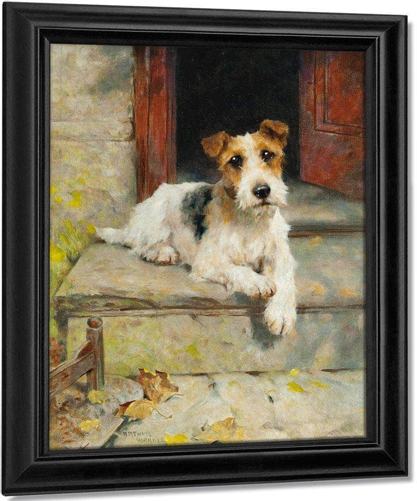Waiting For Master A Wire Coated Fox Terrier By Arthur Wardle