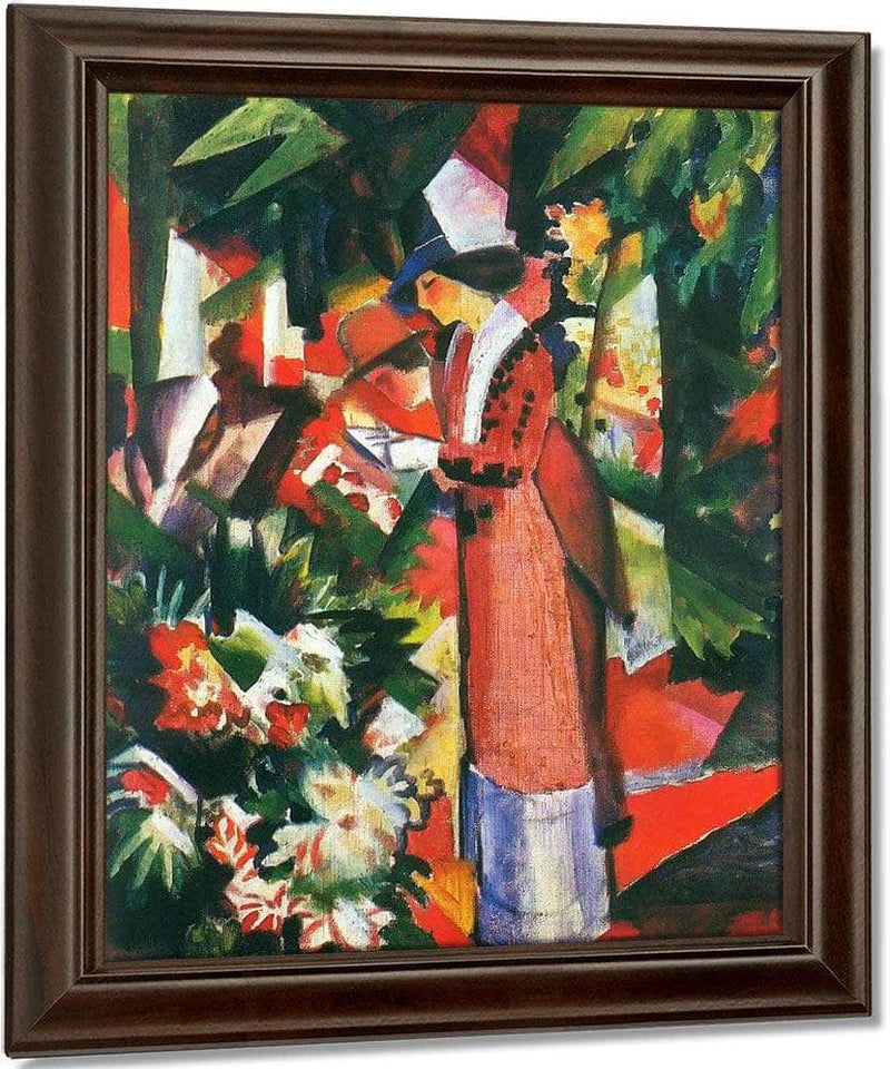 Walk Among Flowers By August Macke