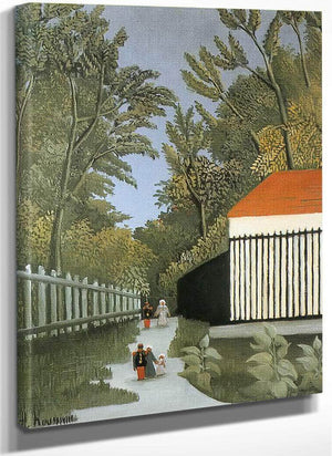 Walk In The Parc Monsouris About 1910 By Henri Rousseau