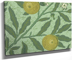 Wallpaper Sample With Lemons And Branches By William Morris