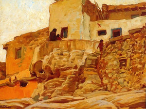 Walls Of Walpi By Maynard Dixon
