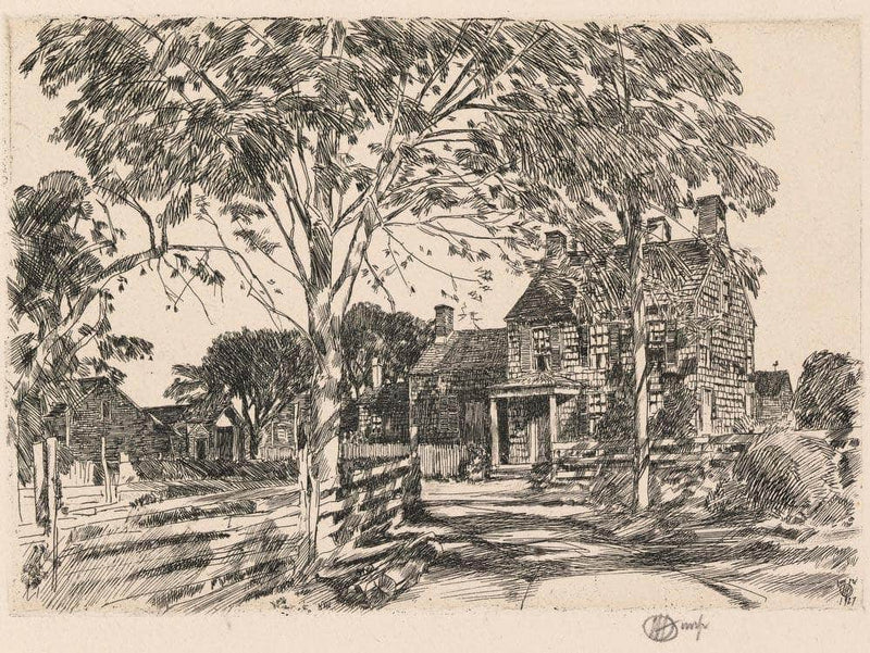 Walt Whitman's Birthplace By Childe Hassam