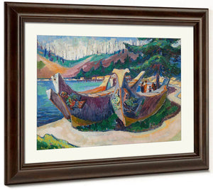 War Canoes Alert Bay 1912 By Emily Carr