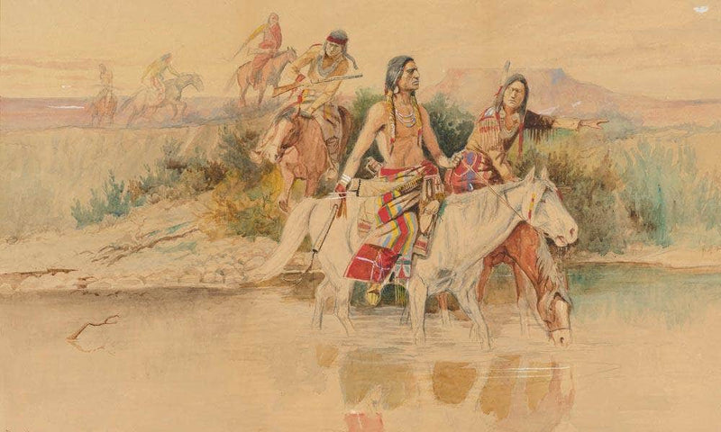 War Party By Charles Marion Russell