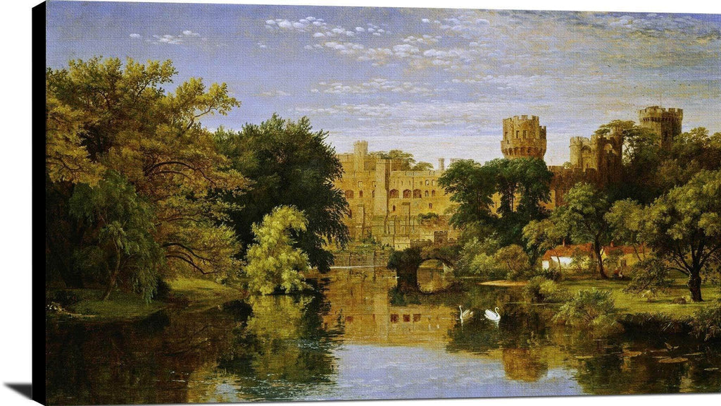 Warwick Castle, England Painting Jasper Francis Cropsey Canvas Art