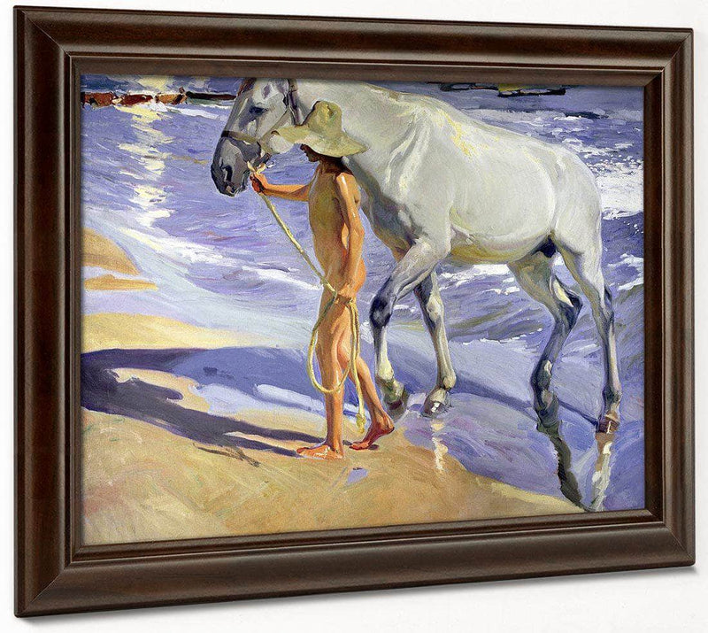Washing The Horse By Joaquin Sorolla Y Bastid