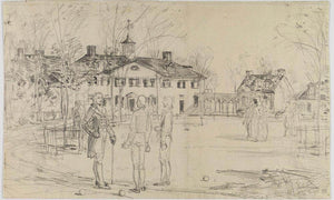 Washington At Mount Vernon By Childe Hassam