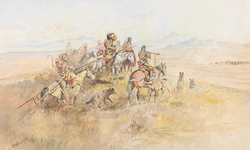 Watching The Buff By Charles Marion Russell