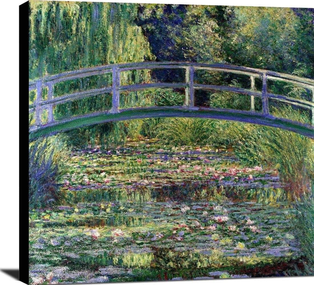 Water Lilies And The Japanese Bridge Painting Claude Monet Canvas Art