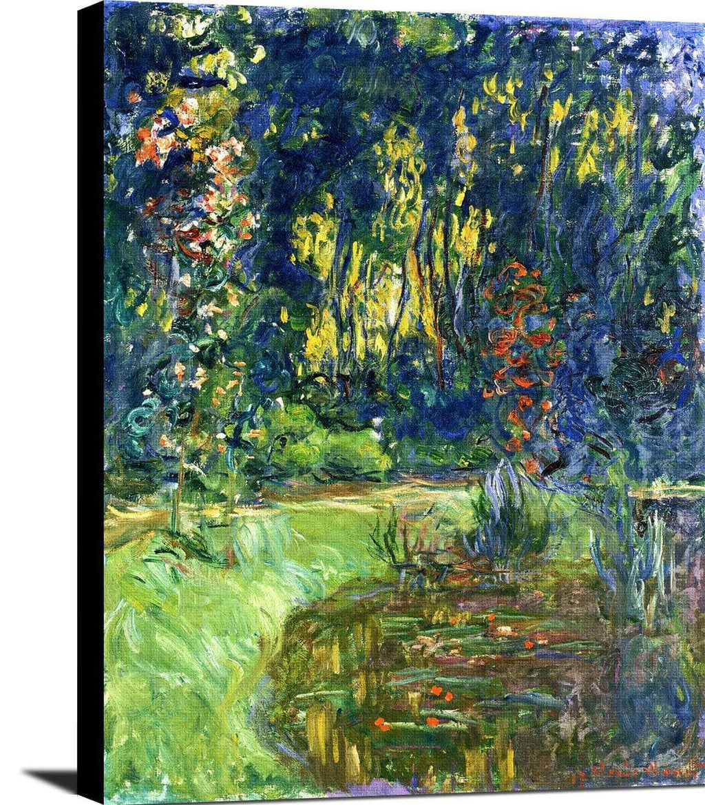Water Lily Pond At Giverny Painting Claude Monet Canvas Art