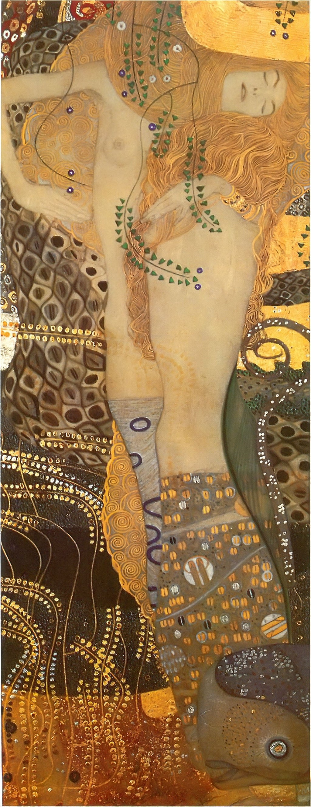 Water Snakes I by Gustav Klimt
