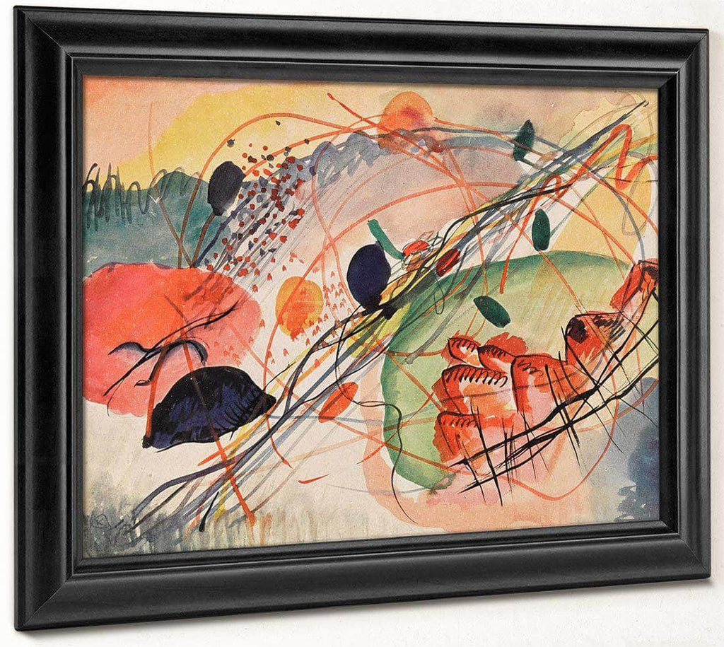 Watercolor 6 1911 By Wassily Kandinsky
