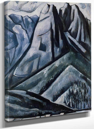 Waxenstein At Hamarsbach Garmicsch Bavaria By Marsden Hartley