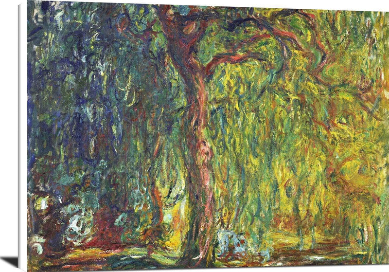 Weeping Willow Painting Claude Monet Canvas Art