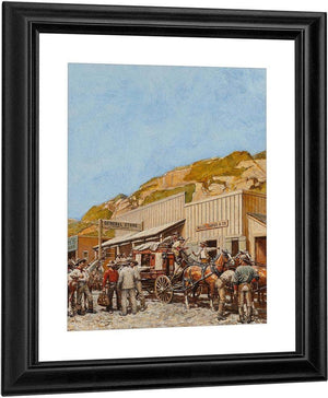 Wells Fargo Stagecoach 1948 By Norman Mills Price