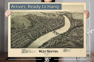 West Newton Pennsylvania 1900 Vintage Map