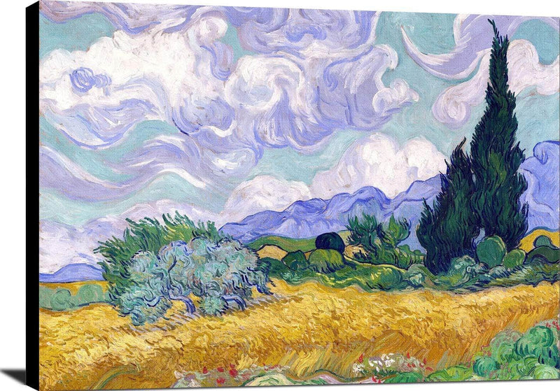 Wheat Field With Cypruses Painting Vincent Van Gogh Canvas Art