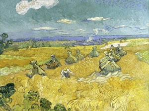 Wheat Fields With Reaper Auvers By Vincent Van Gogh