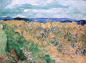 Wheatfield With Cornflowers Painting Vincent Van Gogh Canvas Art