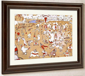 White And Red Clowns Evolving By James Ensor