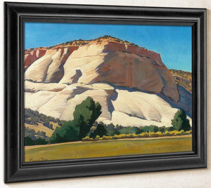 White Butte And Meadow By Maynard Dixon