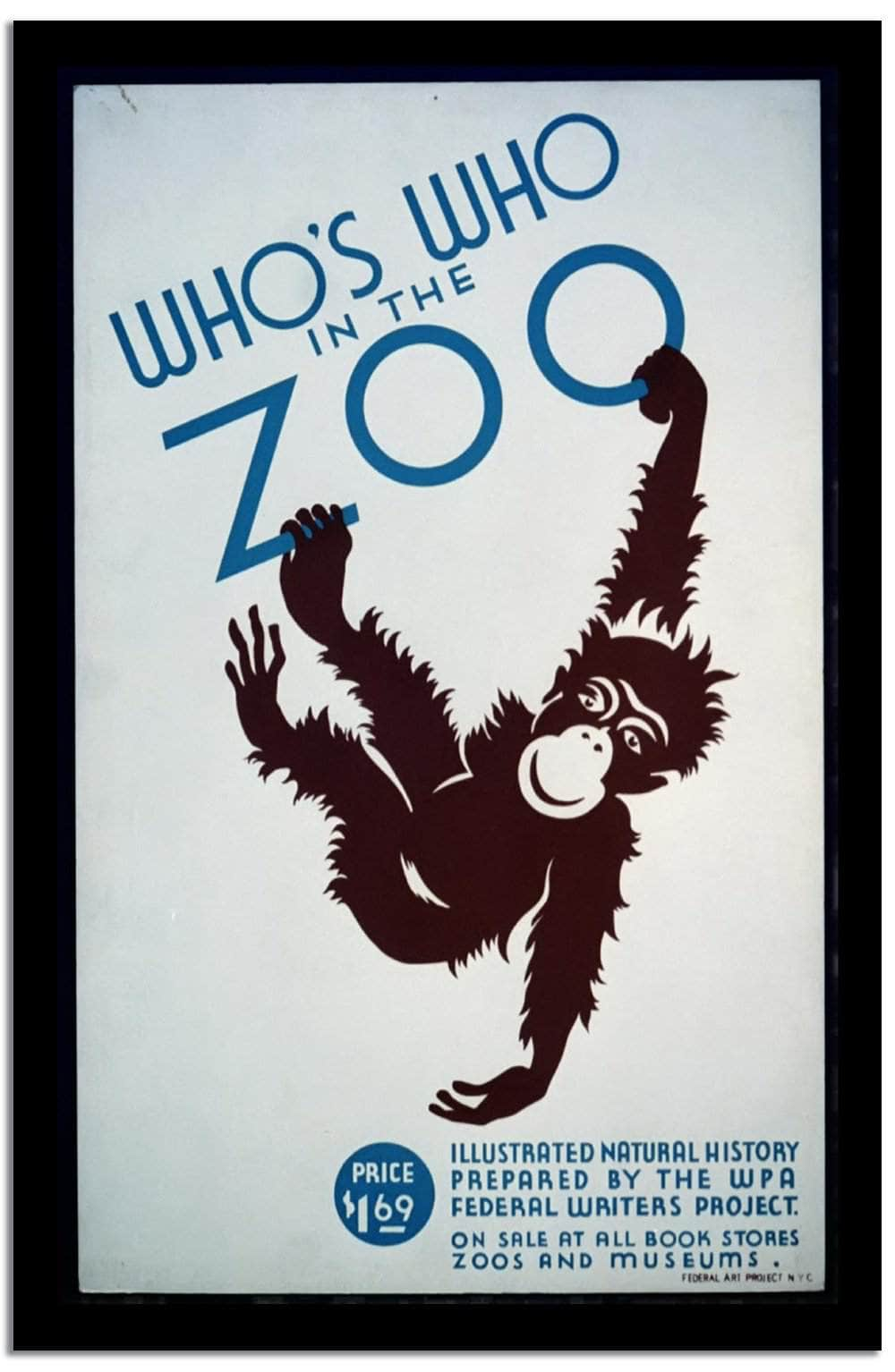 Who's Who In The Zoo  Vintage Poster