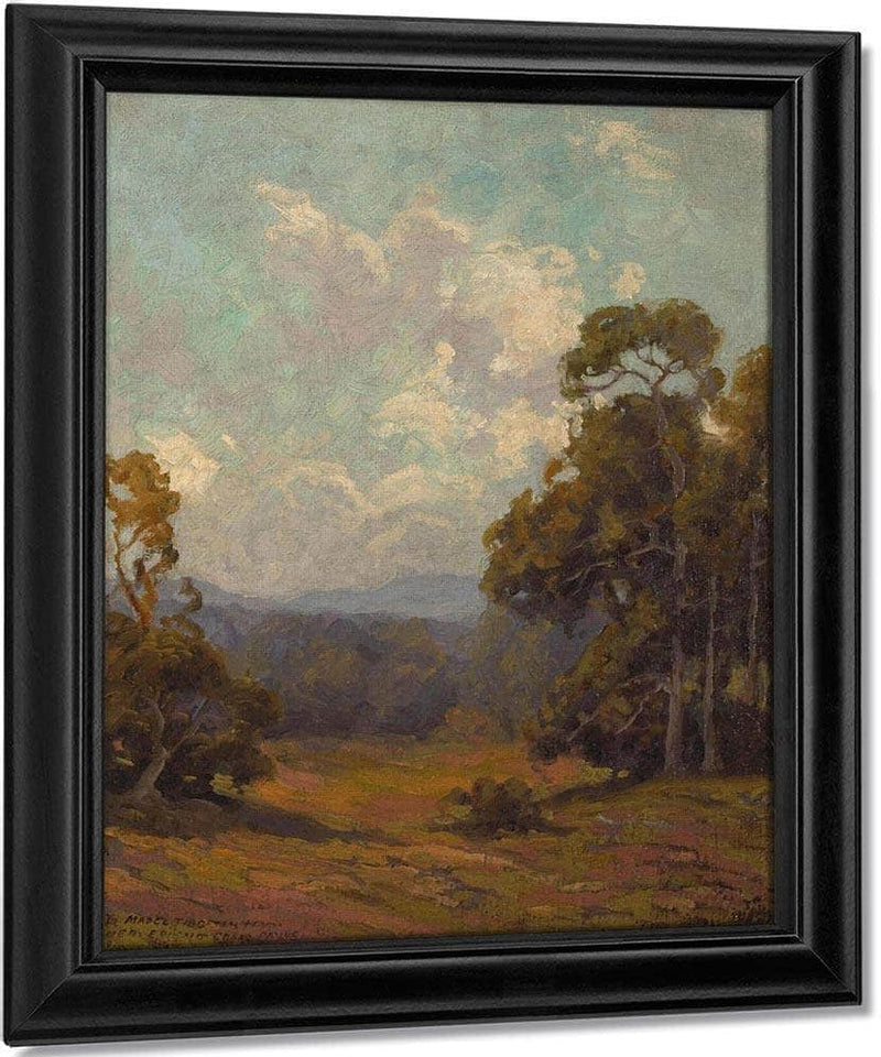 Wildflowers In A California Landscape By  Edgar Payne