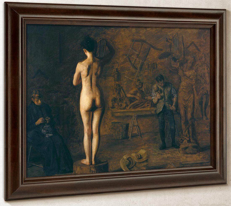 William Rush Carving His Allegorical Figure Of The Schuylkill River By Thomas Eakins