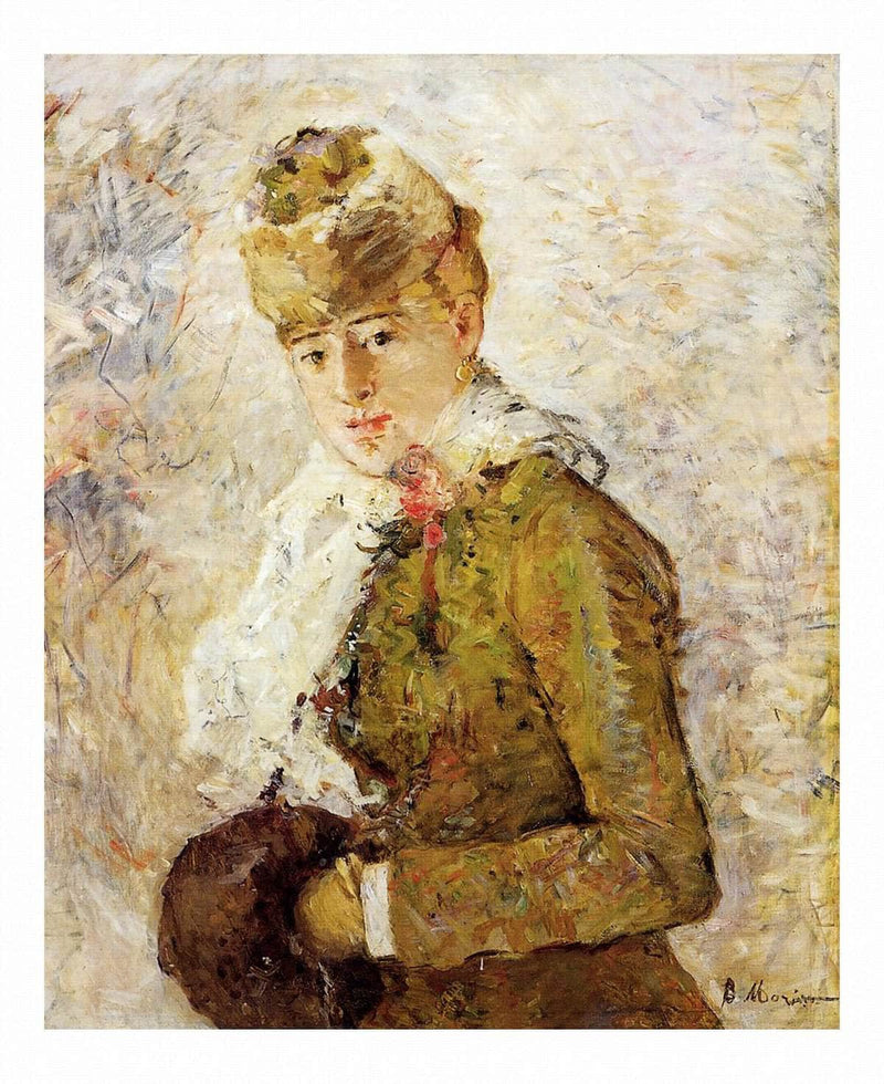 Winter Aka Woman With A Muff 1880 7350x5850mm Dallas Of Fine Arts by Berthe Morisot Wall Art from Truly Art