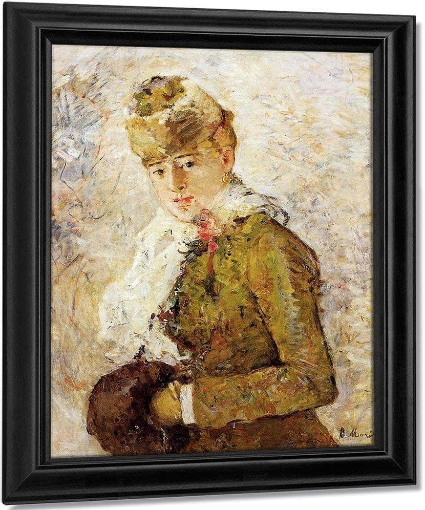Winter Aka Woman With A Muff 1880 Oil On Canvas 7350X5850Mm Dallas Museum Of Fine Arts By Berthe Morisot