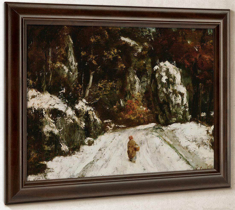 Winter In The Jura By Gusave Courbet