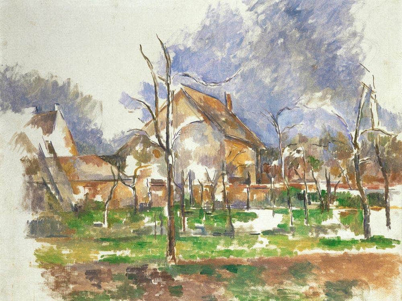 Winter Landscape Giverny By Cezanne Paul
