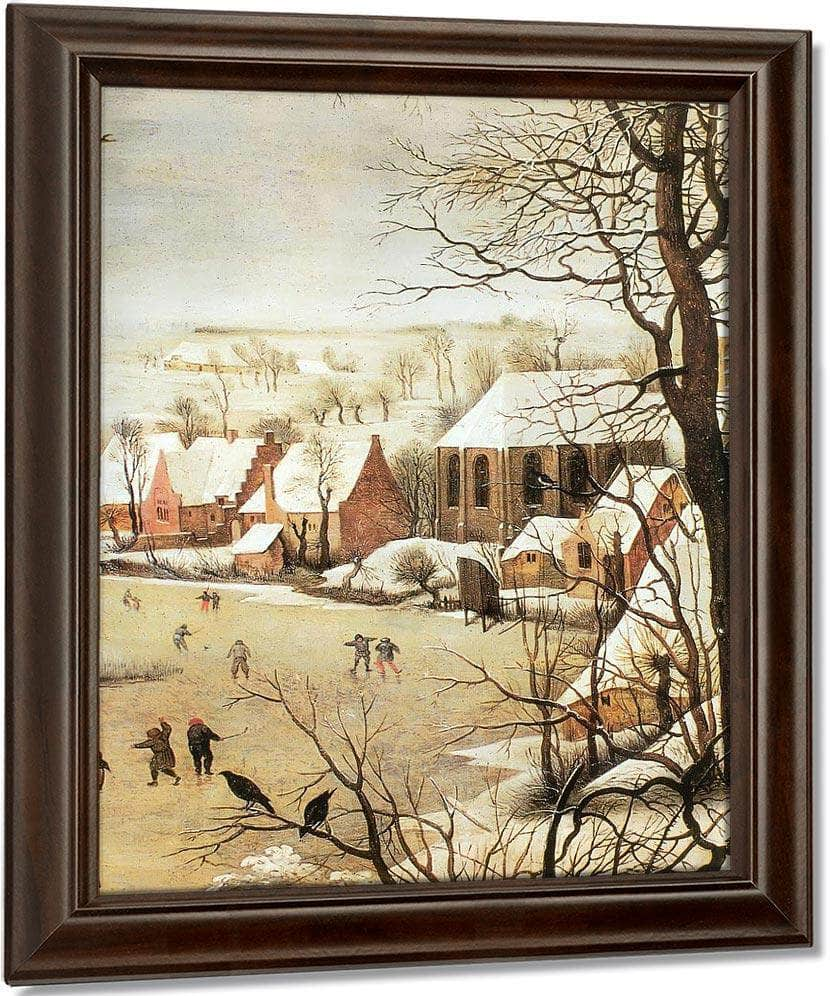 Winter Landscape With A Bird Trap 2 1565 By Pieter Bruegel
