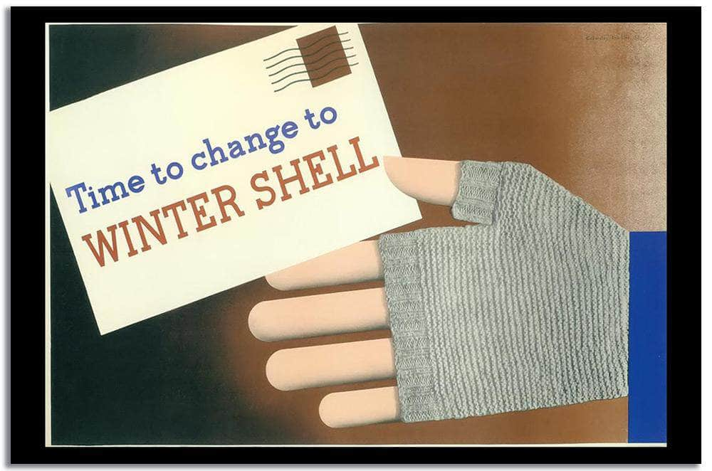 Winter Shell  Vintage Poster
